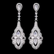 All clear bridal earrings