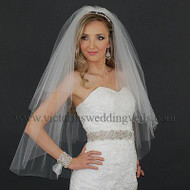 3 Layers Bridal Veil Cut Edge Oval N38