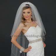 3 Layers Bridal Veil Pencil Edge N40-4