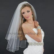 2 Layer Bridal Veil Pencil Edge N24-4