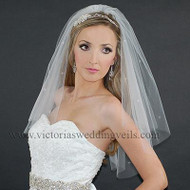 2 Layer Bridal Veil Cut Edge Rhinestones N23R