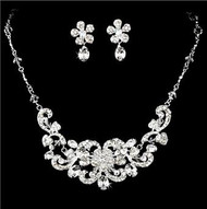 Beautiful Crystal Bridal Wedding Prom Jewelry Set HS8