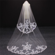 floor length long veil