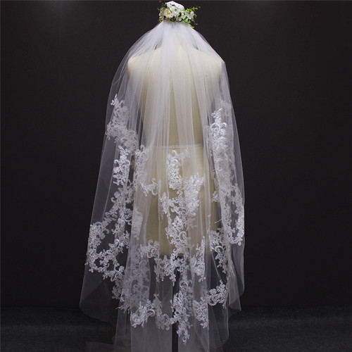 beautiful veil with lace