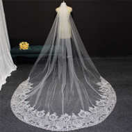 long veil with bridal lace