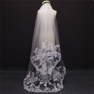 2 layer lace edge veil