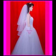 """Bridal Veil Wedding 3 Tiers  25''x30''x35""""  35-3"""