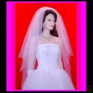 "Bridal Veil 3 Tier Swarovski Crystal 28""x33""x40"" 31R"
