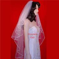 "SWAROVSKI RHINESTONE WEDDING BRIDAL VEIL 30""x40""  30R3"