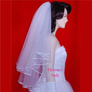 "WEDDING  VEIL BRIDAL  2 Tier 26""x30""  22-1"