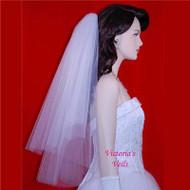 "BRIDAL VEIL CUT EDGE WEDDING  24""x28""  16"