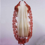 red lace veil