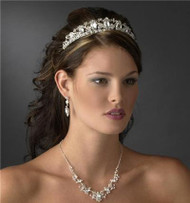 GALORE RHINESTONE PRINCESS BRIDAL TIARA WT8411