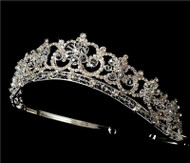 BEAUTIFUL SWAROVSKI CRYSTAL BRIDAL TIARA WT434
