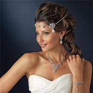 Couture Swarovski Rhinestone Kim Kardashian Inspired Bridal Headband Headpiece WT1861