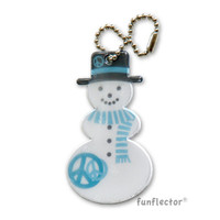funflector Soft Film Snowman Peace Sign Reflector