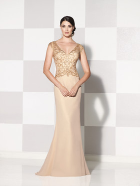 Cameron Blake 115600 Straight Line Gown with Beaded Bodice