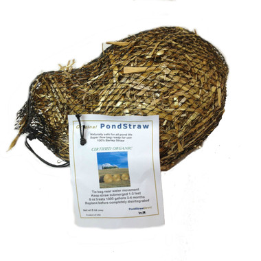 Barley Straw Bale 8 oz Pond Straw Reject for pond and algae treatments