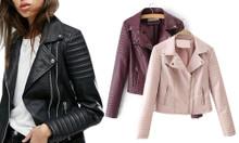 Faux Leather Slim Jacket