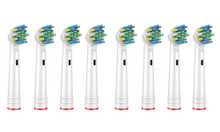 Set of 8 Compatible Toothbrush Replacement Heads - Floss Specialist