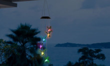 Hummingbird Color-Changing LED Solar Mobile Wind Chime