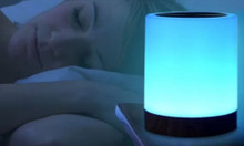 Speaker with led light alarm clock