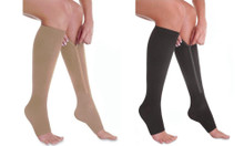 Knee Compression Zipper Socks - 1 Pair