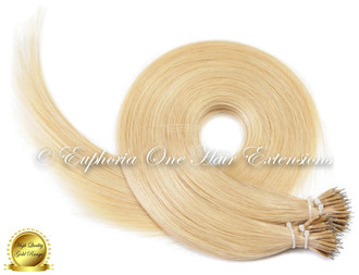 Nano Tip Brazilian Gold Remy Double Drawn Hair Extensions - 20 Strands