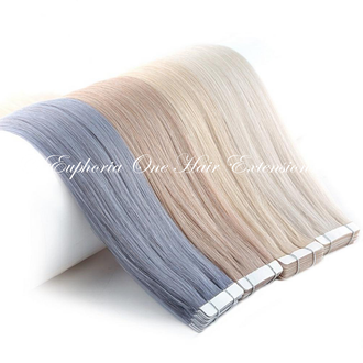 Tape Russian/Mongolian Platinum Remy Double Drawn Hair Extensions - 25 Grams (Approx 10 Sections)