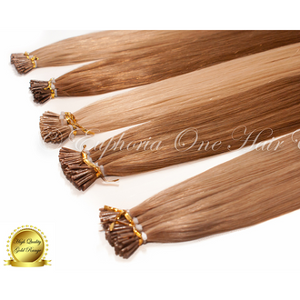 I-Tip Brazilian Gold Remy Double Drawn Hair Extensions - 25 Strands (Sale)