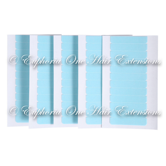 USA Blue Tape Hair Strips - 10 Individual Strips
