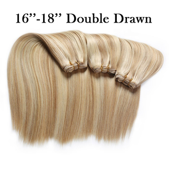 16''-18'' Russian/Mongolian Platinum Remy Double Drawn Weft/Weave Hair Extensions