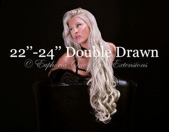 22''-24'' Russian/Mongolian Platinum Remy Double Drawn Weft/Weave Hair Extensions