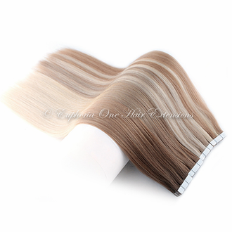 Tape Brazilian Remy Double Drawn Hair Extensions - 25 Grams (10 Sections x 2.5g)