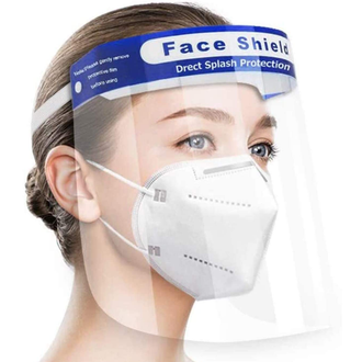 Full Face Covering Shield - Anti Fog - Clear