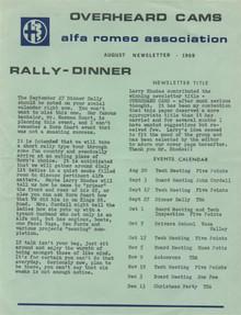 Overheard Cams August 1969