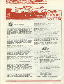 Overheard Cams May 1970