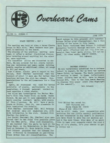 Overheard Cams June 1974