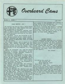 Overheard Cams September 1974