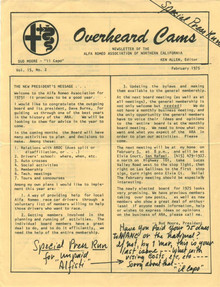 Overheard Cams March 1976