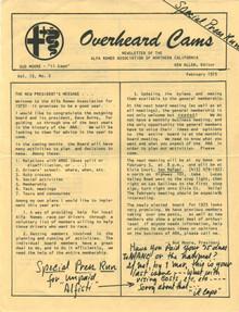 Overheard Cams September 1976