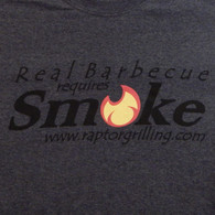 """Real Barbecue Requires Smoke"" t-shirt print"