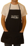 "Black ""Real Barbecue Requires Smoke"" apron"