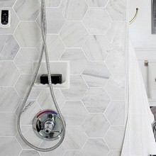 Bianco Carrara Honed Hexagon mosaic