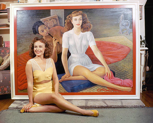 This is an image of 243656 Paulette Goddard Photograph & Poster