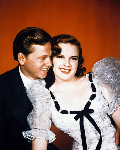This is an image of 210418 Judy Garland & Mickey Rooney Photograph & Poster