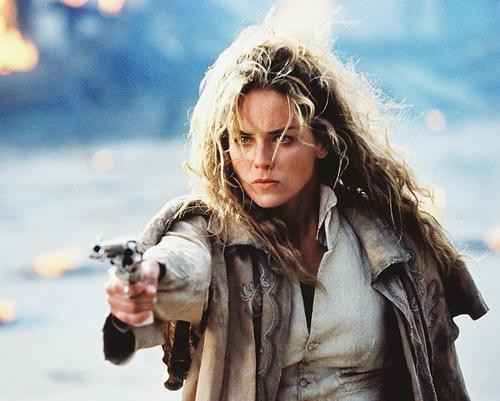 This is an image of 214545 Sharon Stone Photograph & Poster