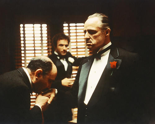 This is an image of 254454 The Godfather Photograph & Poster