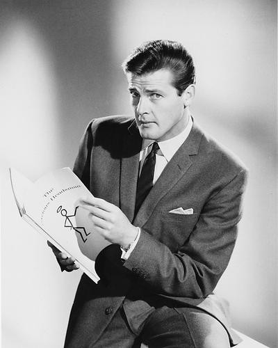 This is an image of 179888 Roger Moore Photograph & Poster