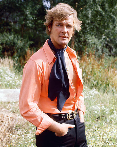This is an image of 267021 Roger Moore Photograph & Poster